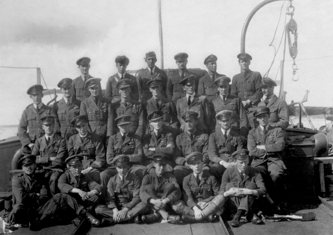 Officers of the Seaplane Squadron, August 1919 (Roy Stock is first row third from left)